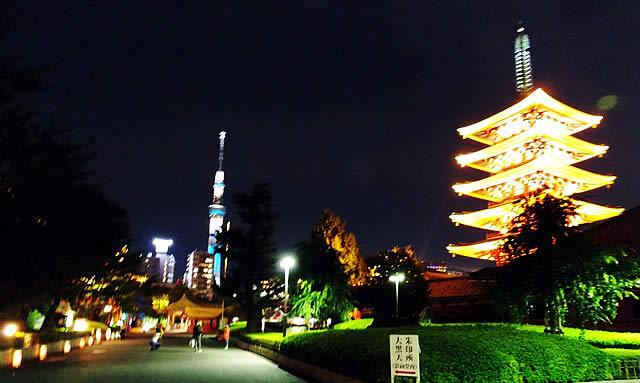 浅草燈籠祭と東京スカイツリーの画像