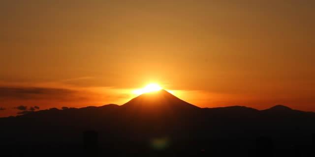東京タワーダイヤモンド富士の画像