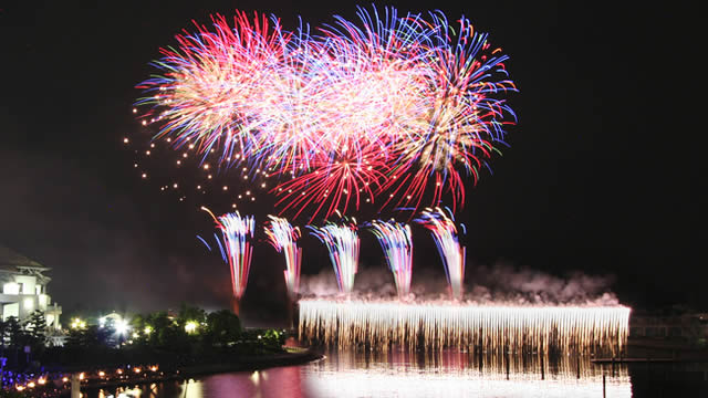横浜八景島シーパラダイス クリスマス花火シンフォニアの画像