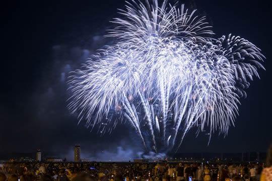 横田基地日米友好祭花火大会の画像