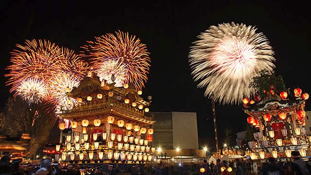 秩父夜祭花火大会の画像
