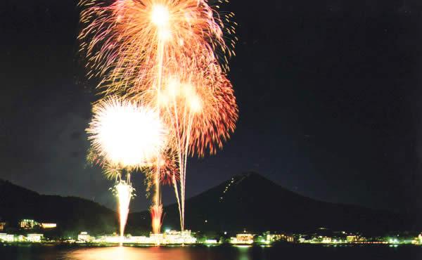 富士山・河口湖山開きまつり花火大会の画像