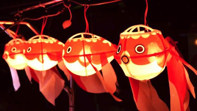 金魚ちょうちんの画像