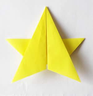 七夕飾り折り紙星の画像