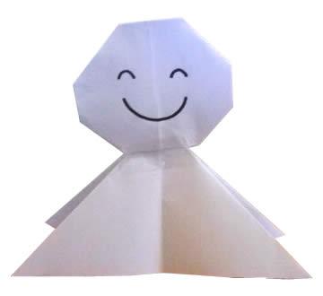 てるてるぼうず折り紙の画像